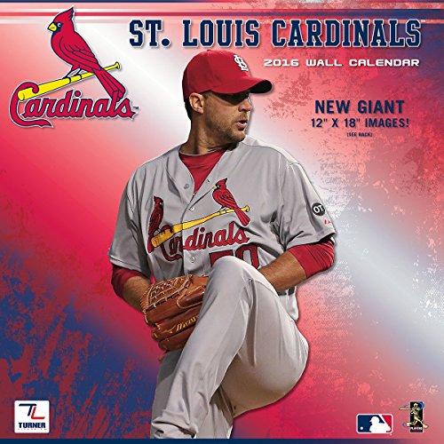 """Turner St Louis Cardinals 2016 Team Wall Calendar, September 2015 - December 2016, 12 x 12"""" (8011864)"""