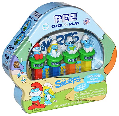 pez-candy-smurfs-click-and-play-pez-dispensers-and-candy-rolls-gift-set-and-party-favor-gift-set