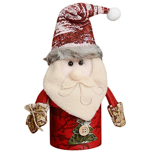 Christmas Child Kids Candy Jar Storage Bottle Santa Bag Sweet Christmas Box Gift (A): Amazon.com: Grocery & Gourmet Food