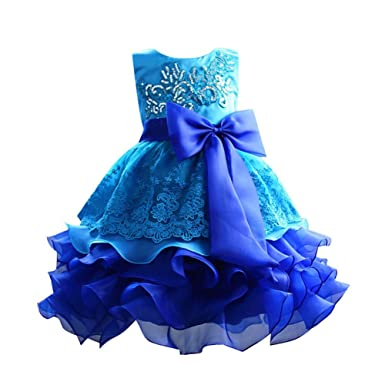 Hougood Girls Prom Dresses Princess Dress Birthday Weddings Party Flower Fancy Dress Ceremony Formal Dresses Sequins