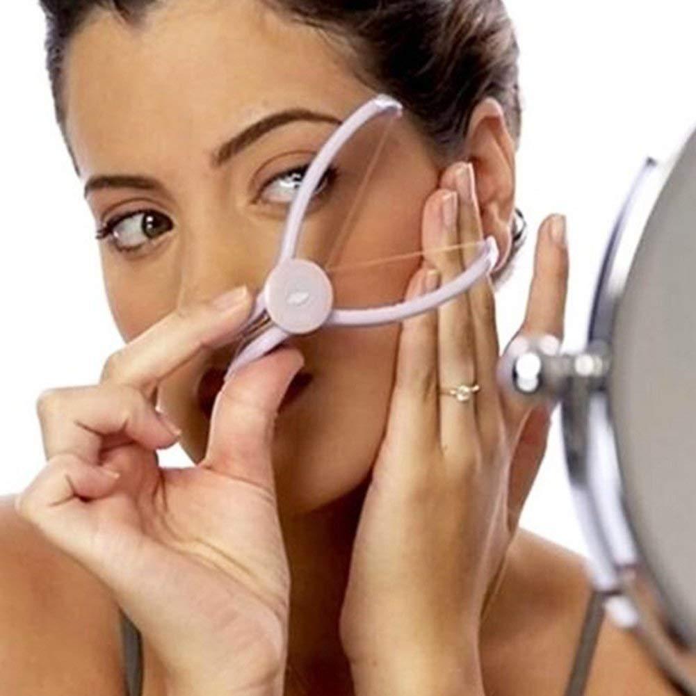 Gesichtshaarentferner für Frauen Haarentferner Spirale Epilierer Threading Clip Tool mit Faden Wurzeltief für Gesicht und Körper manuell und schmerzfrei Fadenepilierer Fadengerät Fadenhaarentfernung Augenbrauenpinzette haarzupf entfernung haarepilierer Kör