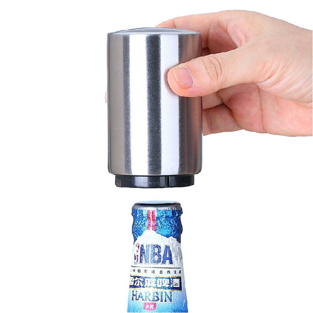 Kanggest 1 Piezas Llaveros Abrebotellas con anilla Guitarra Acero Inoxidable Mini Pocket Abridor de Botella para Cerveza de Jugo beber