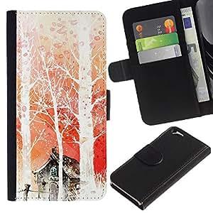 All Phone Most Case / Oferta Especial Cáscara Funda de cuero Monedero Cubierta de proteccion Caso / Wallet Case for Apple Iphone 6 // Nature Japanese Fantasy Forrest