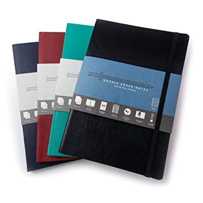 "Four Journals with Ruled Pages: DIY Table of Contents, 185 Numbered Pages, Archival Stickers, Premium Paper 5.75"" x 8.25"", Pocket, Bookmark. Perfect Bible Journal or Diary. (Multicolor 4-Pack): Home & Kitchen"