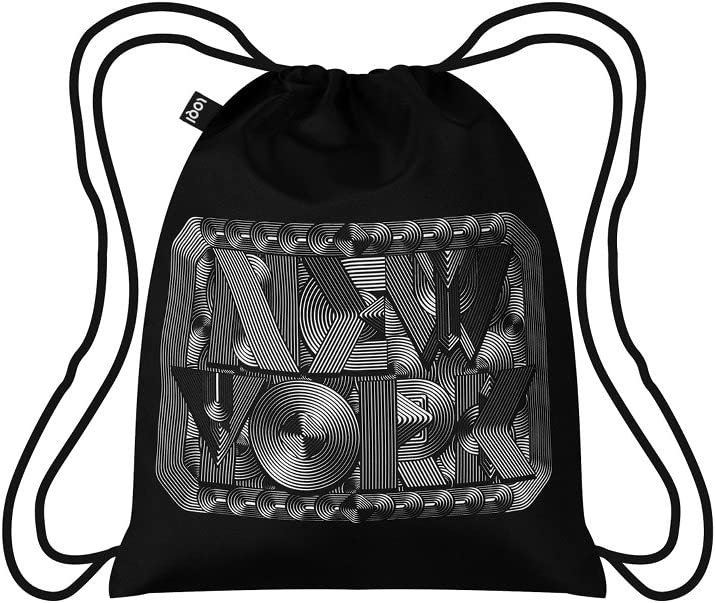 LOQI TYPE Backpack, One Size, New York Retro