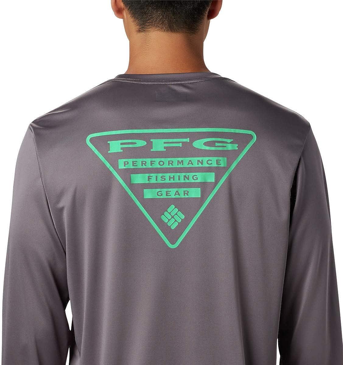 Columbia Mens Terminal Tackle PFG Triangle LS Shirt