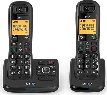 BT XD56 TWIN Teléfono inalámbrico con contestador automático (función manos libres): Amazon.es: Electrónica