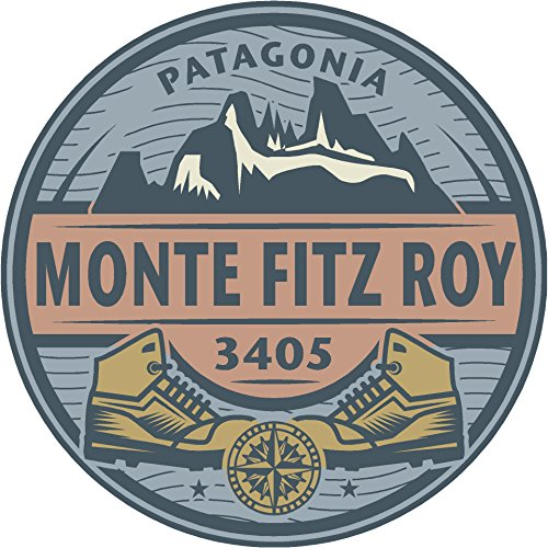 Oval mountains patagonia monte 4x4 sticker decal die cut vinyl - Made and Shipped in - Patagonia Mountains Of