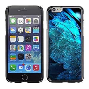 Be Good Phone Accessory // Dura Cáscara cubierta Protectora Caso Carcasa Funda de Protección para Apple Iphone 6 // Feathers Blue Light Angel Wings Spiritual Bird