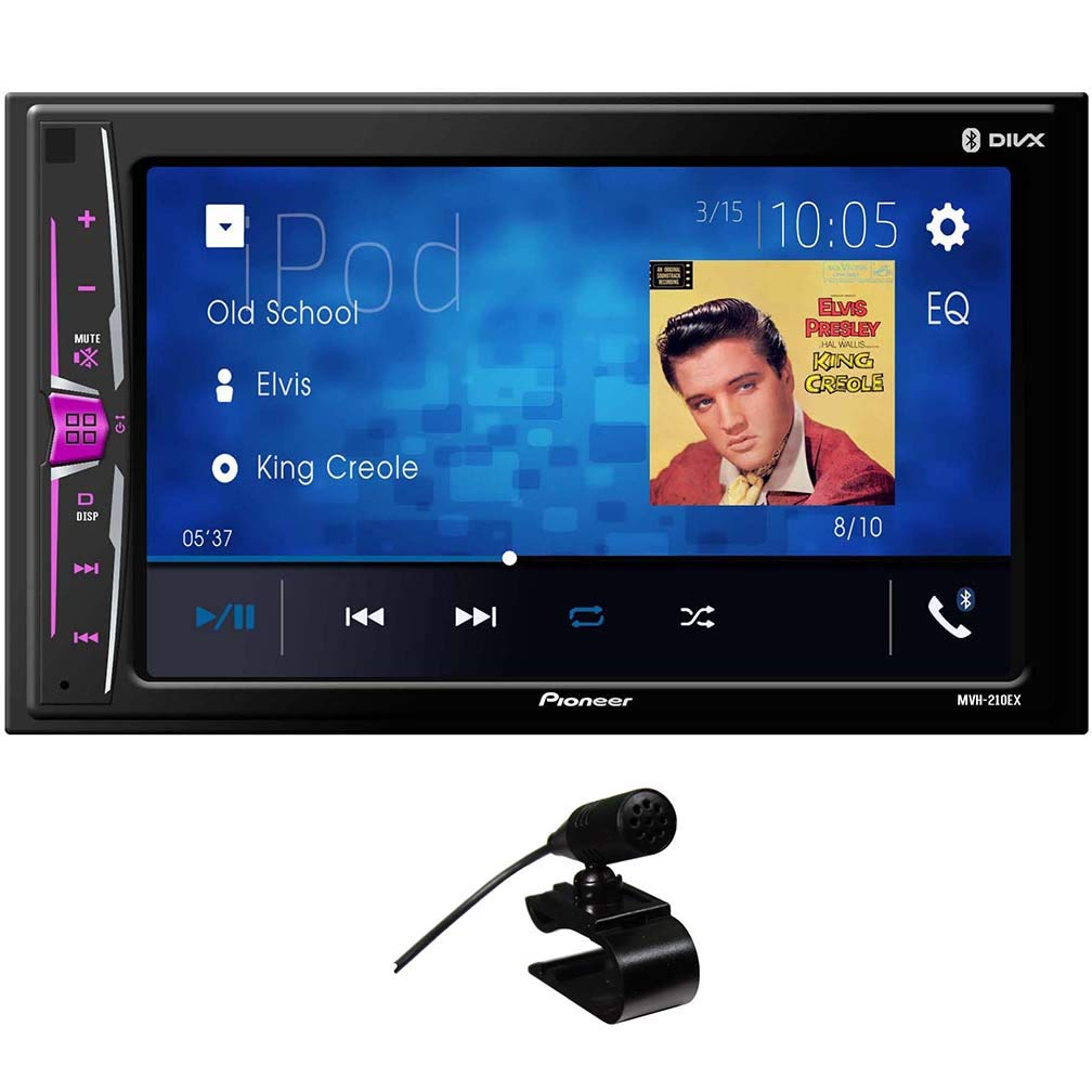 6.2'' Double DIN in-Dash Multimedia A/V Receiver with Bluetooth