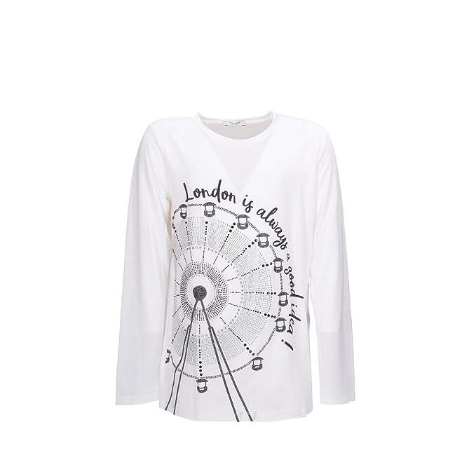 Liu.Jo T-Shirt G68062J0205 Bianco  Amazon.it  Abbigliamento 5357fb01505