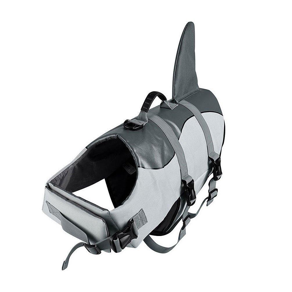 Ranphy Shark Style Dog Life Jacket Pet Flotation Vest Puppy Life Preserver with Rescue Handle Doggy Lifesaver Coat Swimwear Adjustable for Swimming Size M