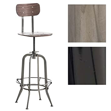 Tresenhocker Höhenverstellbar clp barhocker mattes mit sitz aus vollholz thekenhocker mit