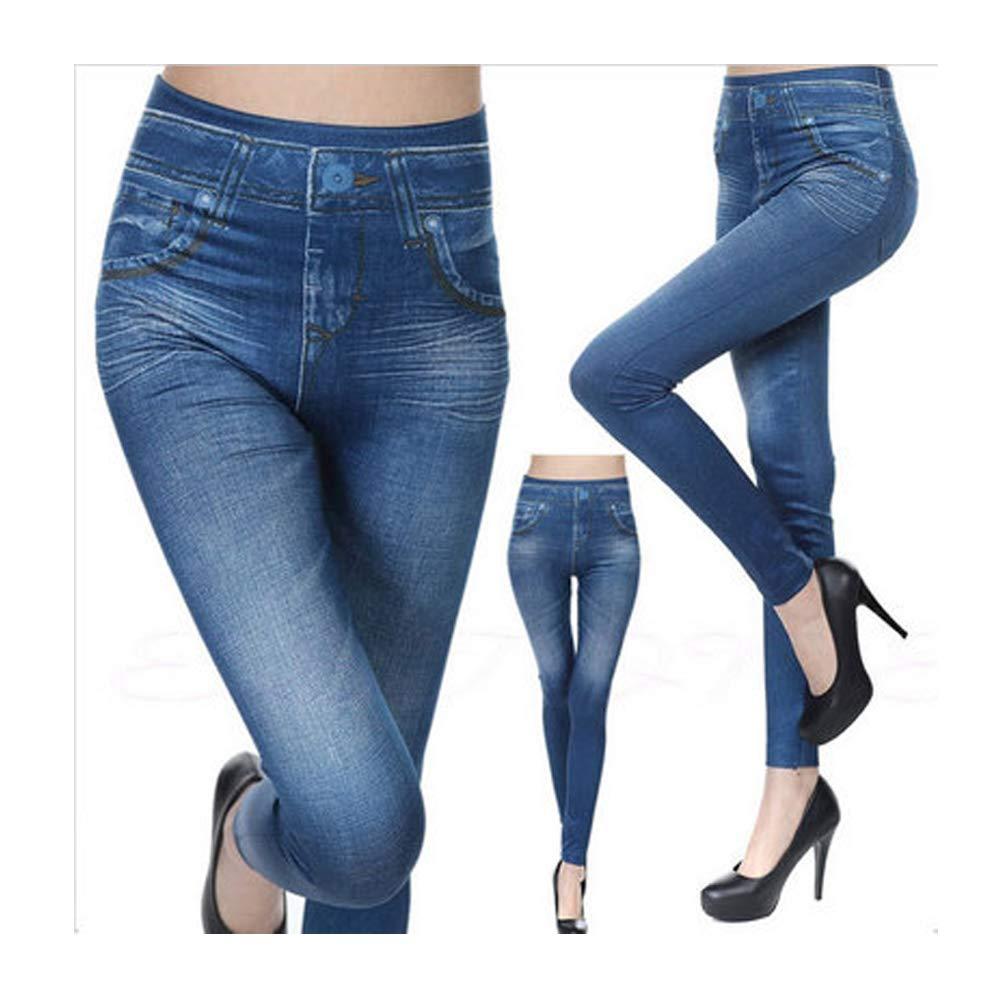 Plus Size Women Skinny Stretch Leggings Pants High Waist Slim Jeggings Trousers Jeans Women's Clothing