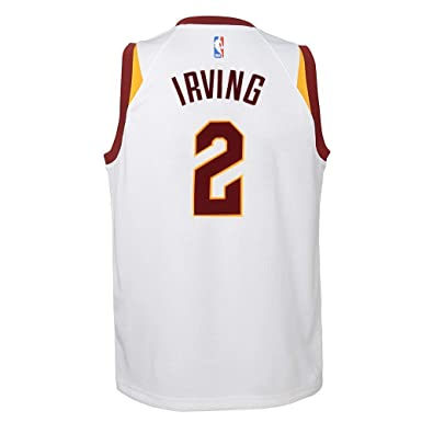 c50d30c6b1e0 NIKE Kyrie Irving Cleveland Cavaliers NBA White Home Swingman Jersey (Youth  Small 8)
