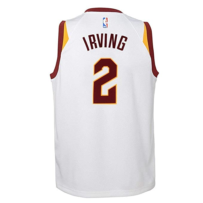 NIKE Kyrie Irving Cleveland Cavaliers NBA White Home Swingman Jersey (Youth  Small 8) 3c22e7bde