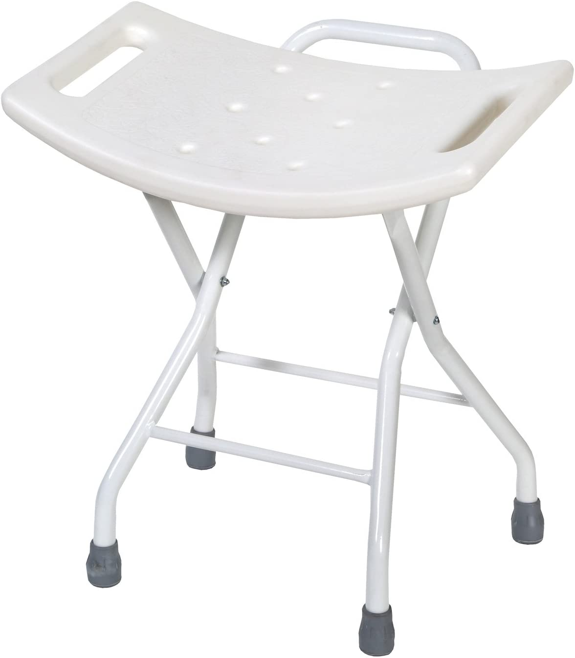 Folding Bath and Shower Safety Seat Stool with Steel Frame