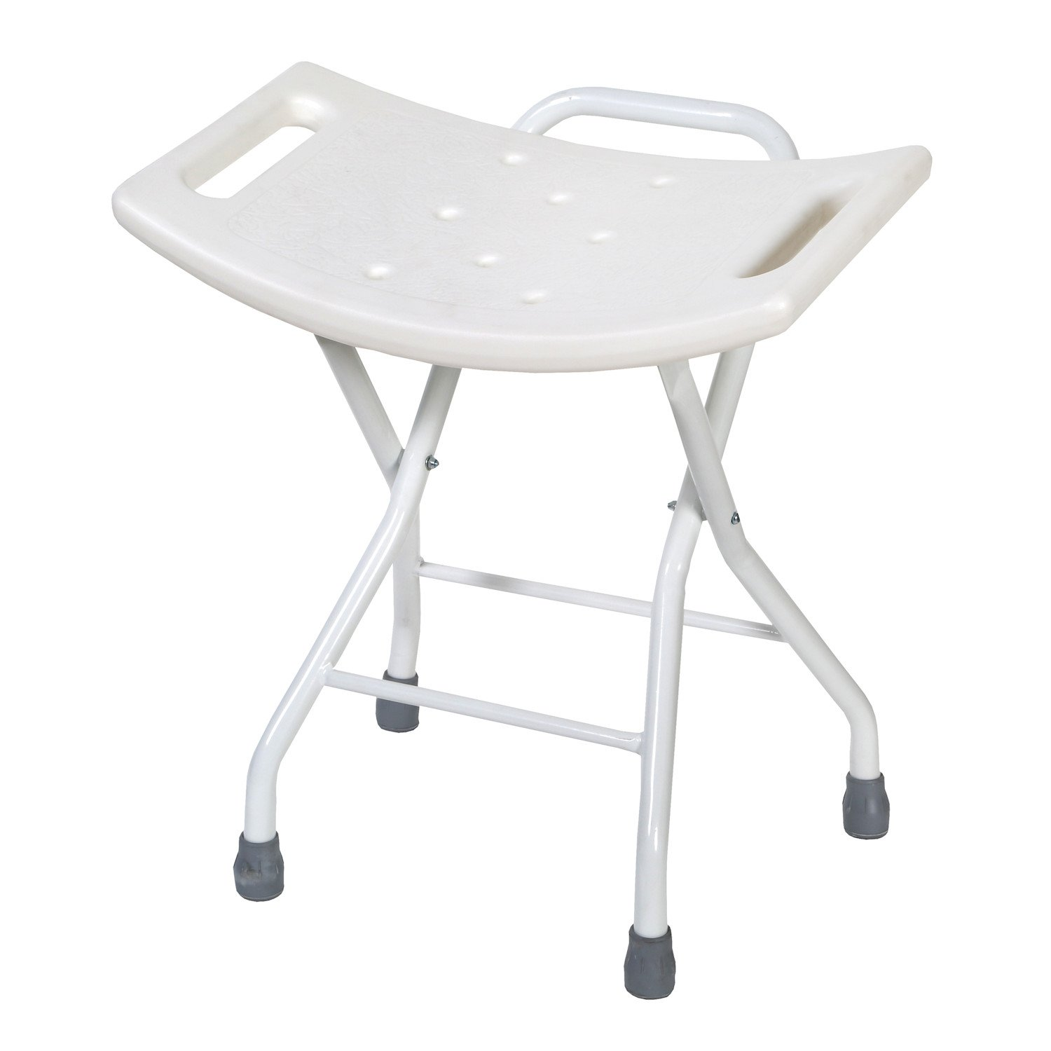 Folding Bath and Shower Safety Seat Stool with Steel Frame by SUPPORT PLUS