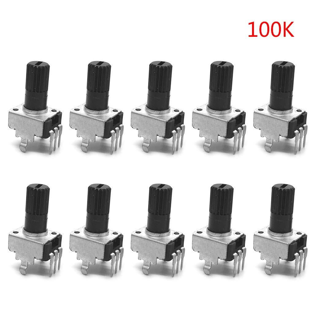 RV09-10 potenziometri verticali 5 carati 20 carati 100 carati 50 carati 10 carati 1 carato 12,5 mm impugnatura lunga 0931 20K
