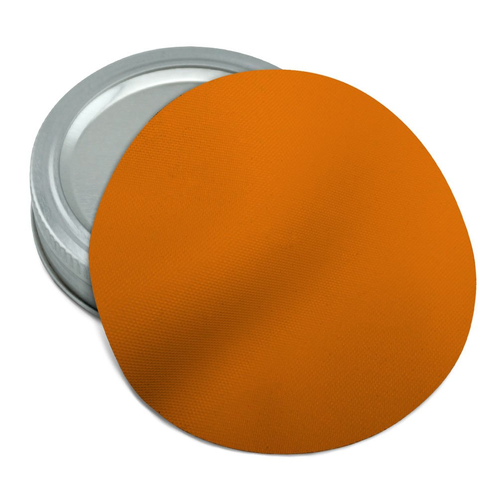 Solid Color Orange Round Rubber Non-Slip Jar Gripper Lid Opener Graphics and More