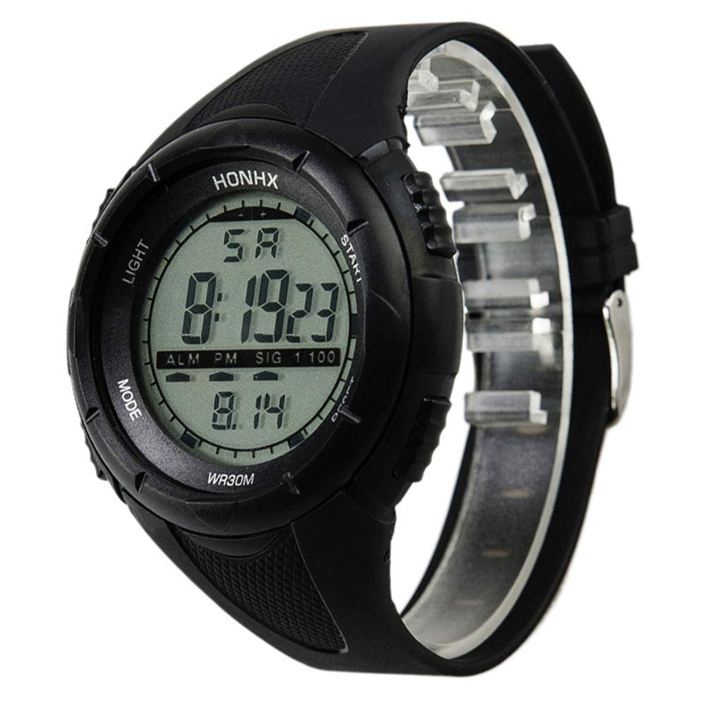 Watches for Men,Clearance Men's Classic Quartz Watch,Wugeshangmao Boy's Fashion Digital Military Army Sport LED Wrist Watch Business Casual Watches Gift,Round Dial Case Waterproof Watches