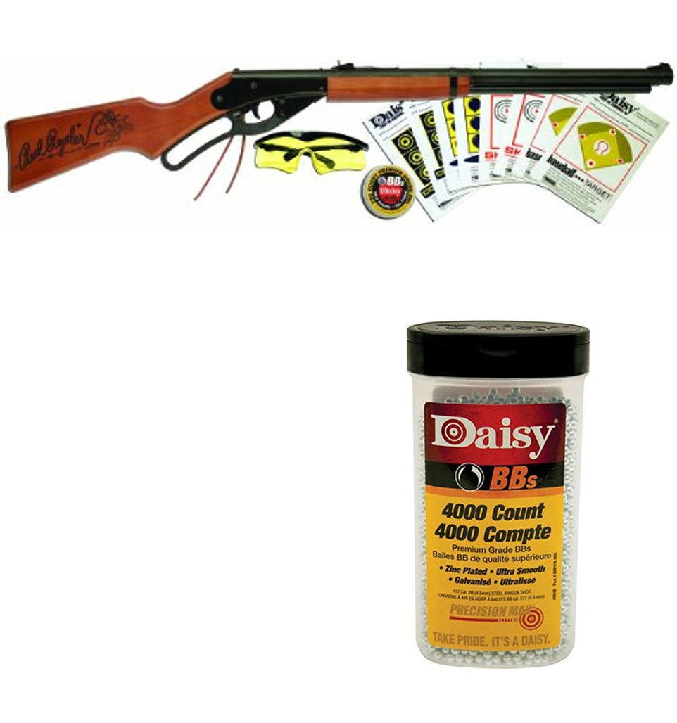 Bundle Includes 2 Items - 1107803 Daisy Red Ryder Shooting Fun Starter Kit 35.4'' Length and Daisy 980040-446 .177 Caliber BB's, 4.5-Milimeter, 4000-Count