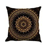 LIEJIE Geometry Painting Flax Cushion Cover Throw Pillow Case Set of 1 Premium Pillow Protectors Allergy Control 45cm45cm/1818""