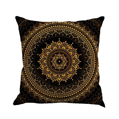 Orange Blue Yellow Coral - Throw Pillow Covers, E-Scenery Clearance Sale! Boho Square Decorative Throw Pillow Cases Cushion Cover for Sofa Bedroom Car Home Decor, 18 x 18 Inch (C)