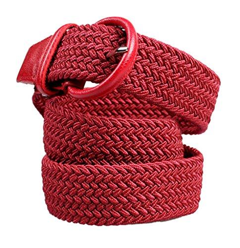 Tessuto Elastico Cintura Stretch 35mm Intrecciato Alaix regolabile Rosso xpfwSpqR
