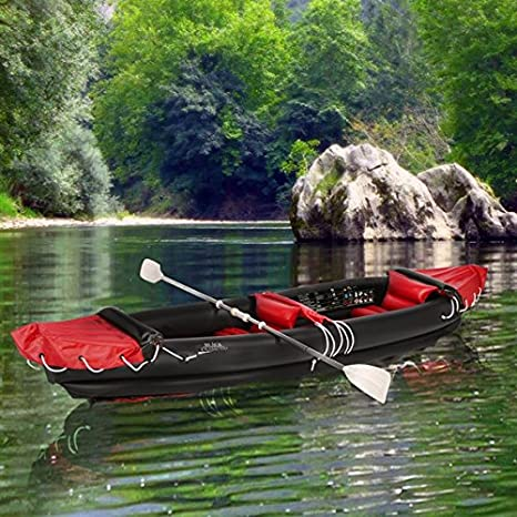 Canoe-kayak hinchable de 2 plazas con zagual BLACK DIAMONDS ...