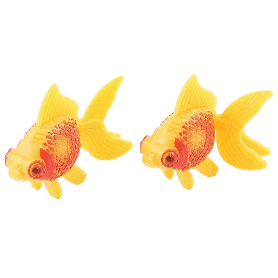 Amazon.com : Jardin Plastic Aquarium Decor Faux Fantail Goldfish, 2 ...