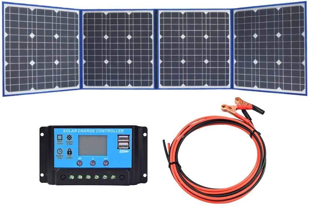 CAR tC Acampar de Paneles solares, Cuatro Plegable Placa de ...