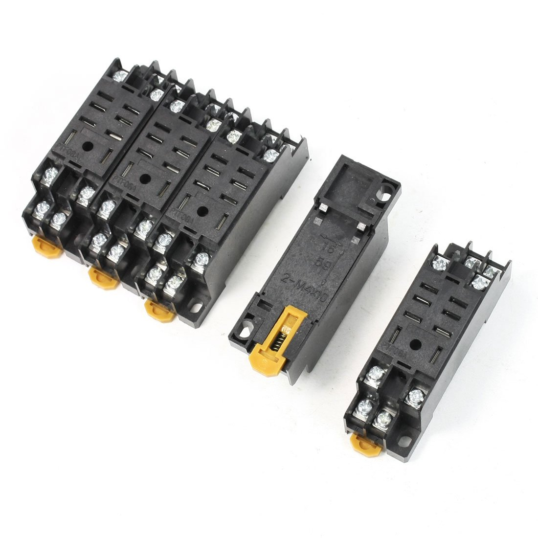 uxcell Replaceable 8 Terminals DIN Rail Relay Socket Base Holder 5PCS