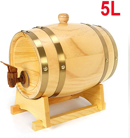 for Beer Whiskey Rum Port Keg Storage and Aging Handcrafted using White Oak Engraved Wine Barrel Color : A, Size : 1.5L Whiskey Aging Barrel