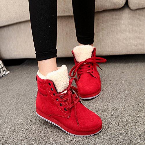 90 Alto 160cm top Cargadores Estudiantes Deslizan Red Se Botas De Del Nieve Los Femeninas Zapatos Tubo 35 En Movimiento Caliente Xie TgqUpxg
