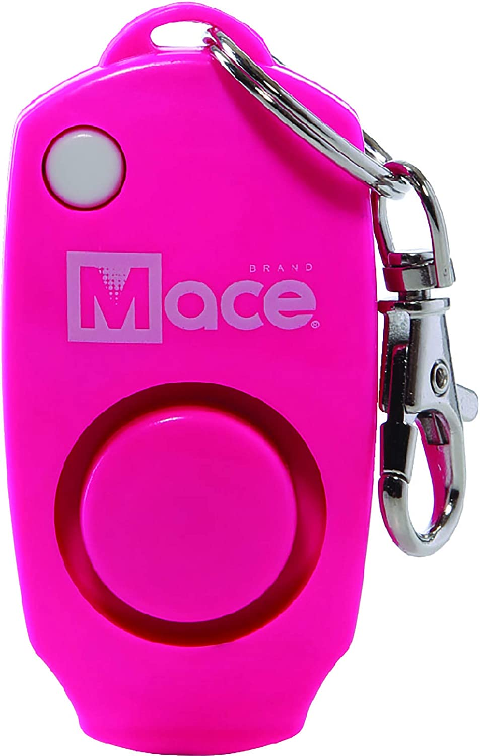 Pink for Women and Hidden Off Button for Self Defense Backup Whistle Mace Brand 130dB Personal Alarm Key Chain with Bag Clip