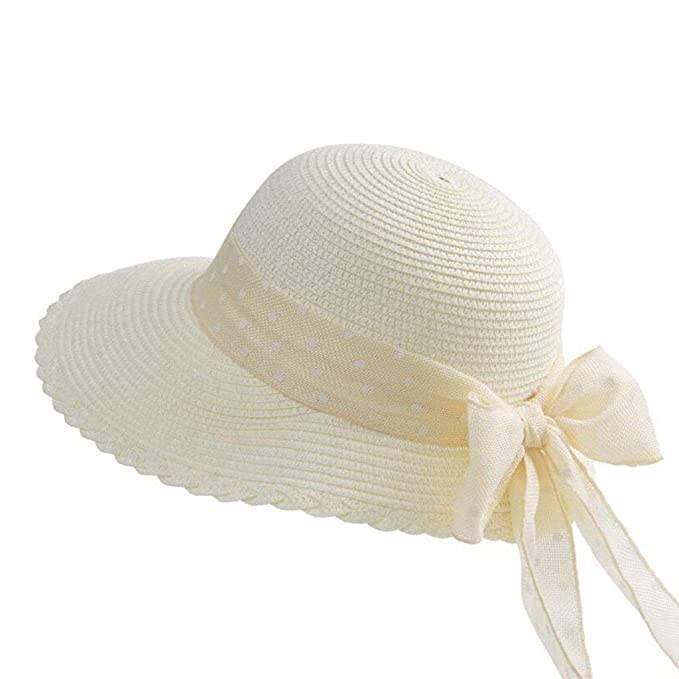 Sombrero De Paja Mujer Damas Protector Solar Viaje Playa De Fácil De Igualar  Va  Amazon.es  Ropa y accesorios 0b3b495d272