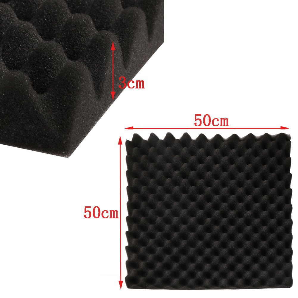 Cici Store 19.7''x19.7''x1.2''inch Acoustic Soundproof Sound Thick Absorption Studio Foam Board