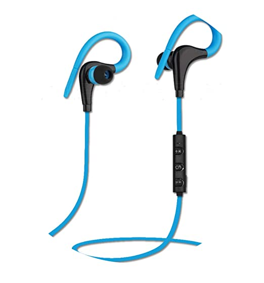 Ear Hook Wireless Headphone Earphone Sport Headset Ecouteur Auriculares Bluetooth,Wireless Blue