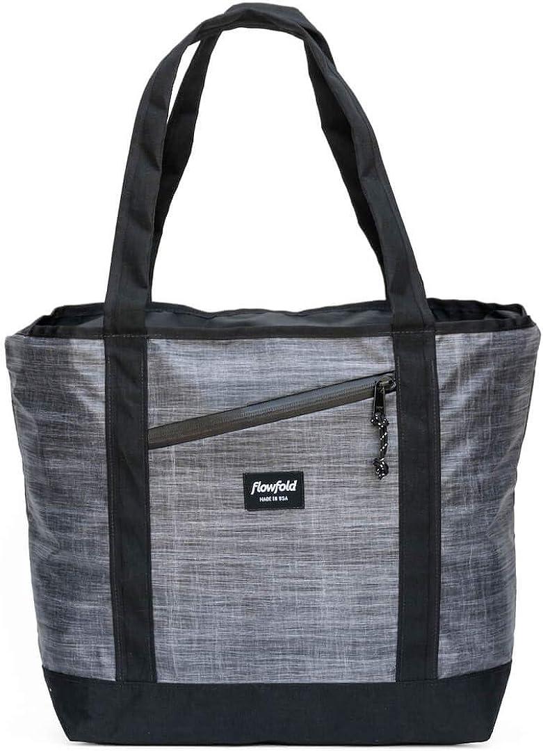 Flowfold Zip Porter Zipper Tote – Minimalist 16L Tote Bag – Ultra Lightweight Outdoor Bag – Made in USA