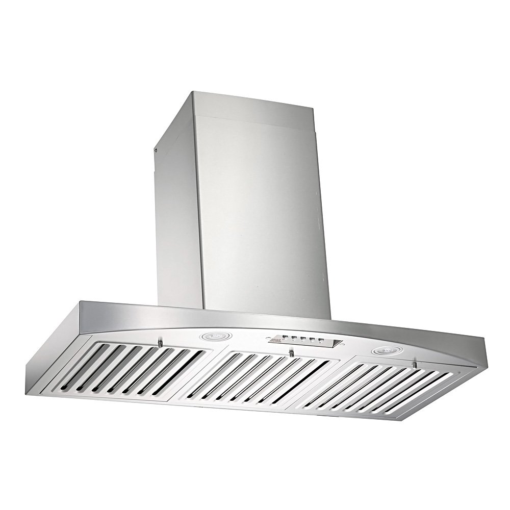 "KOBE RA3836SQB-WM-5 Deluxe 36"" Wall Mount Range Hood, 3-Speed, 700 CFM, LED Lights, Baffle Filters"