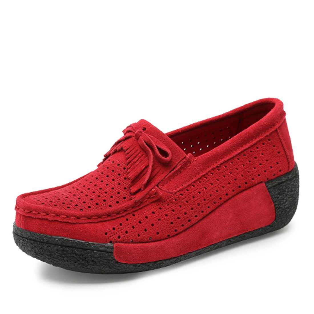 Z.SUO Mocassins Femmes Chaussures B076GHYDC5 Suède Rouge Casuel Confort Chaussures Loafers Rouge 8f63092 - latesttechnology.space