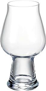 Luigi Bormioli Birrateque Craft Beer Glasses Stout (Set of 2), 20.25 oz, Clear