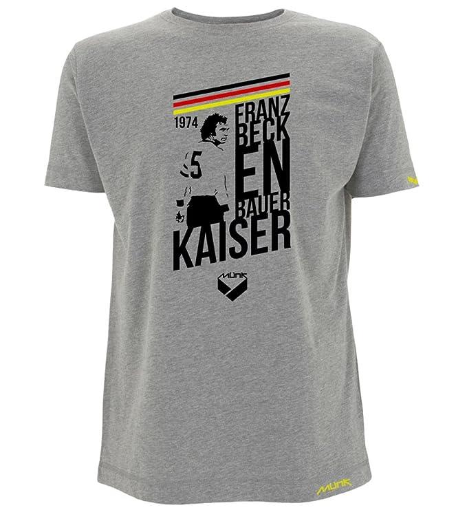 Münk - Franz Beckenbauer - Camisetas de fútbol retro - A retro football brand: Amazon.es: Ropa y accesorios