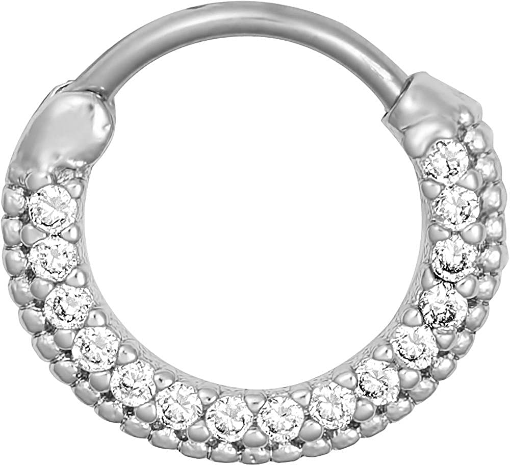 Amazon Com Forbidden Body Jewelry 16g Septum Ring Clicker 16