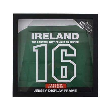 Camiseta marco para firmado camiseta de fútbol firmada de pared para Rugby Jersey negro