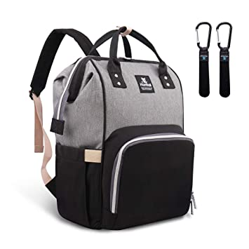089ba23b1 Amazon.com : Hafmall Diaper Bag Backpack Waterproof Large Capacity  Insulation Travel Back Pack Nappy Bags Organizer, Multi-Function, Fashion  and Durable ...
