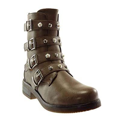 Angkorly Damen Schuhe Stiefeletten Stiefel Combat Boots