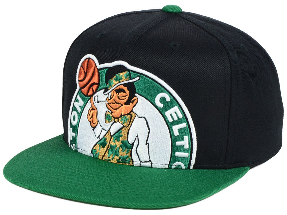 the best attitude 519c2 01b26 Amazon.com   Mitchell   Ness NBA Cropped XL Logo Adjustable Snapback Hat  (One Size, Boston Celtics)   Clothing