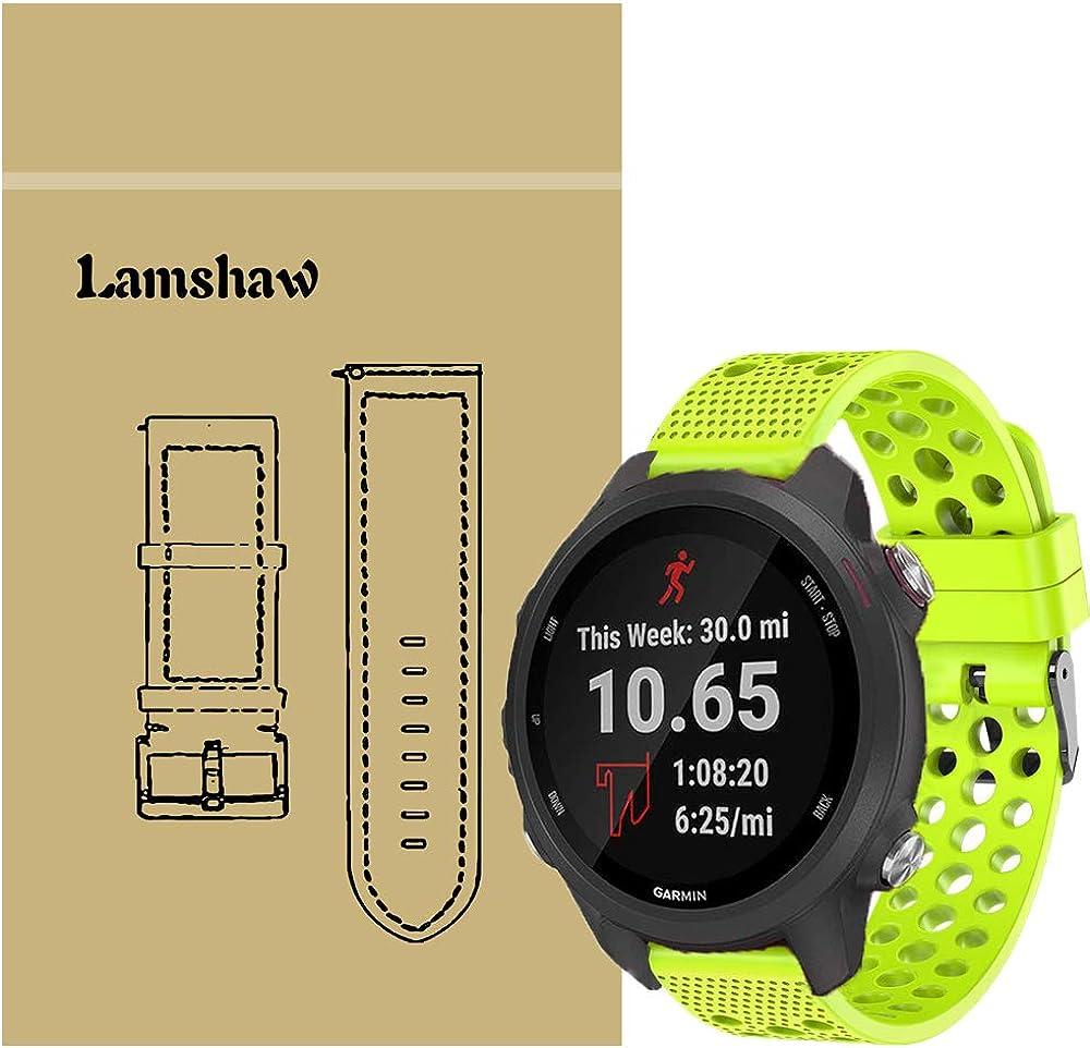 Lvbu Armband Kompatibel Für Garmin Forerunner 245 Sport Silikon Classic Ersatz Uhrenarmband Für Garmin Forerunner 245 Smartwatch Grün Uhren